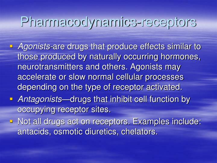Pharmacodynamics-receptors
