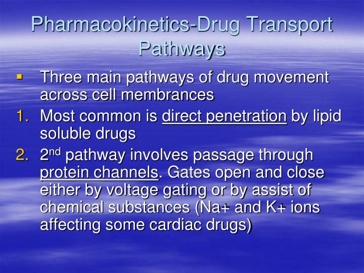 Pharmacokinetics-Drug Transport Pathways