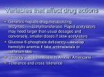 variables that affect drug actions2