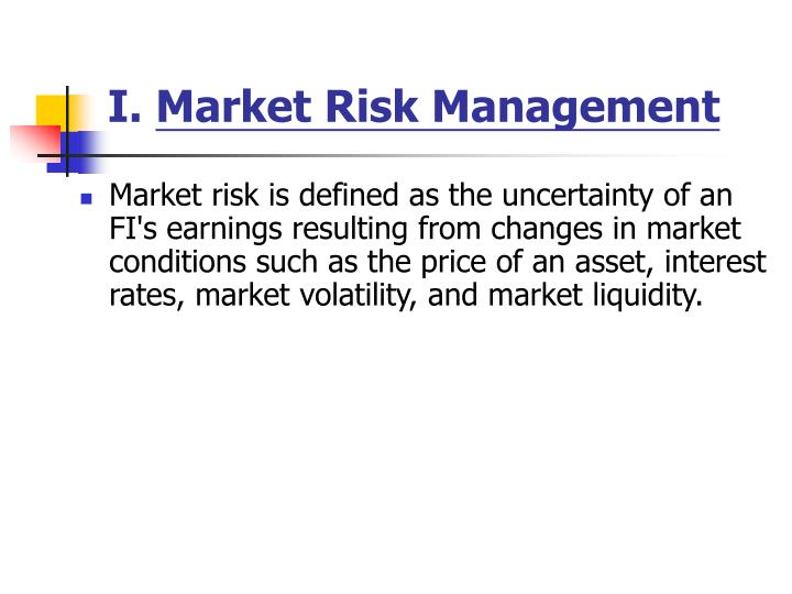 I market risk management