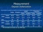 measurement deposit dollarization