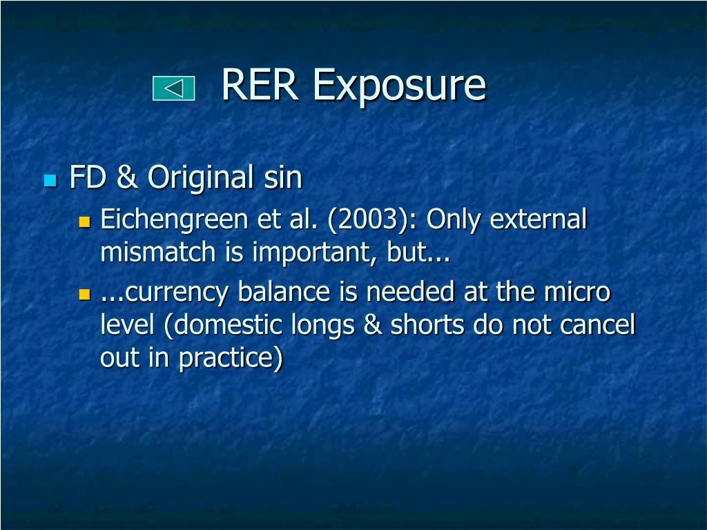 RER Exposure