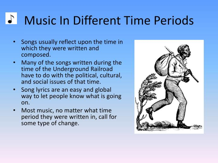 Music in different time periods
