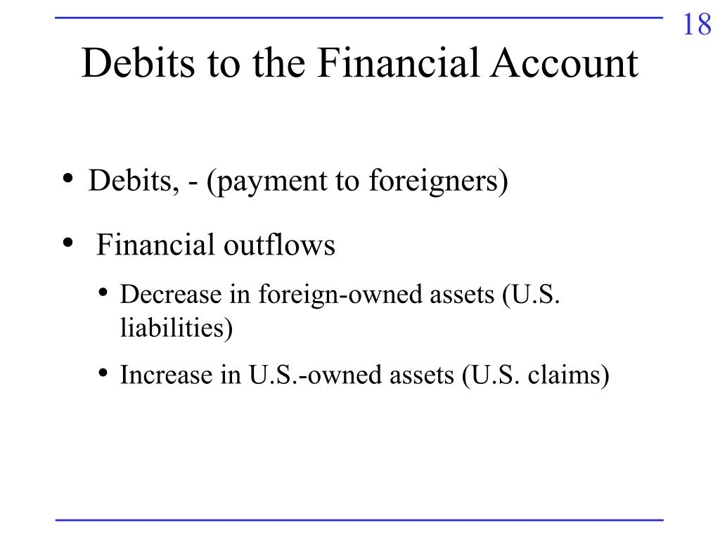 Debits to the Financial Account