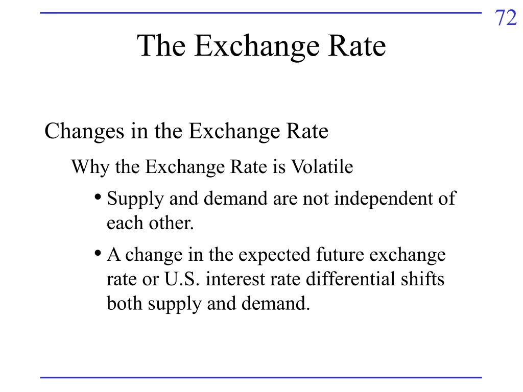 The Exchange Rate