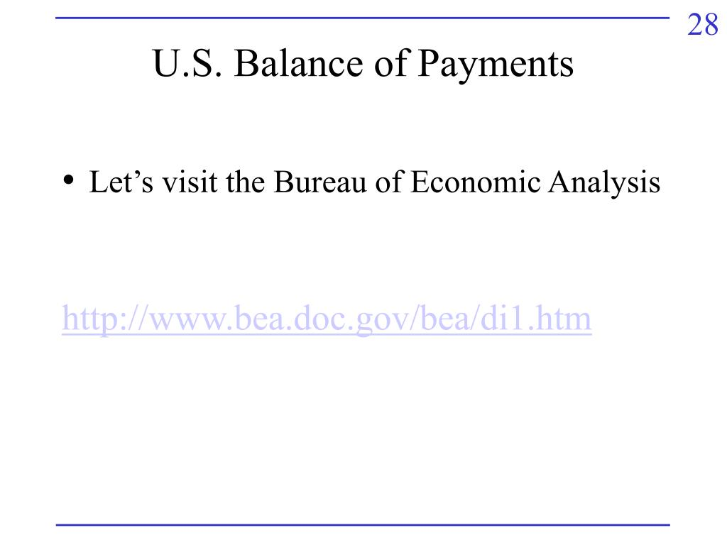 U.S. Balance of Payments
