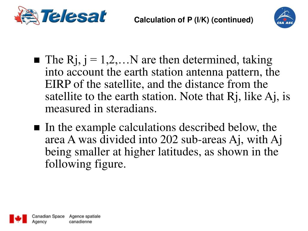 Calculation of P (I/K) (continued)