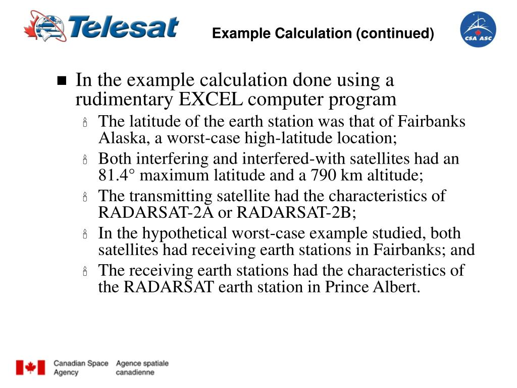 Example Calculation (continued)