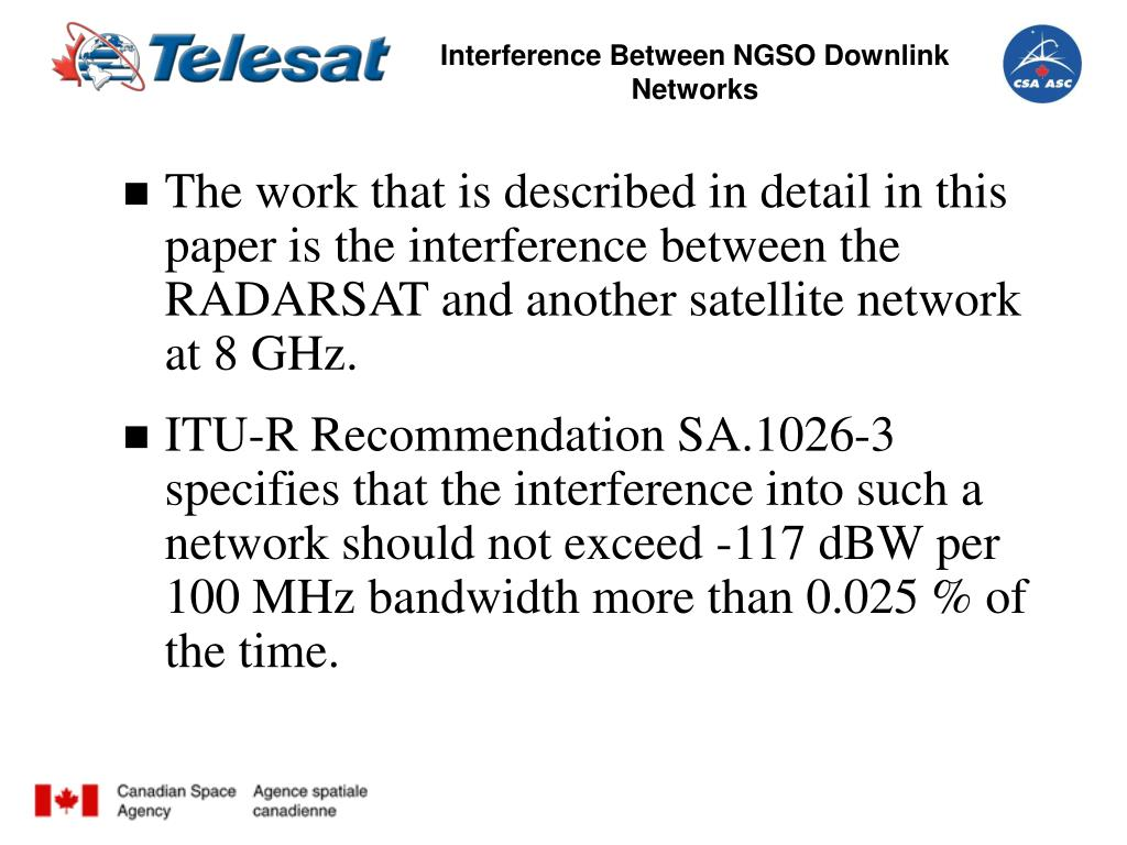 Interference Between NGSO Downlink Networks