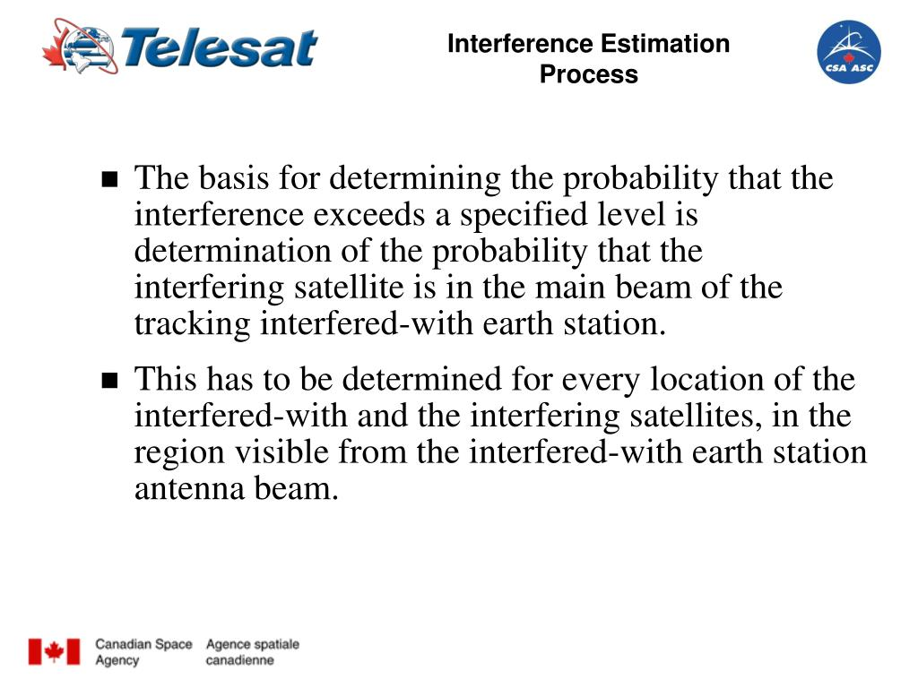 Interference Estimation Process