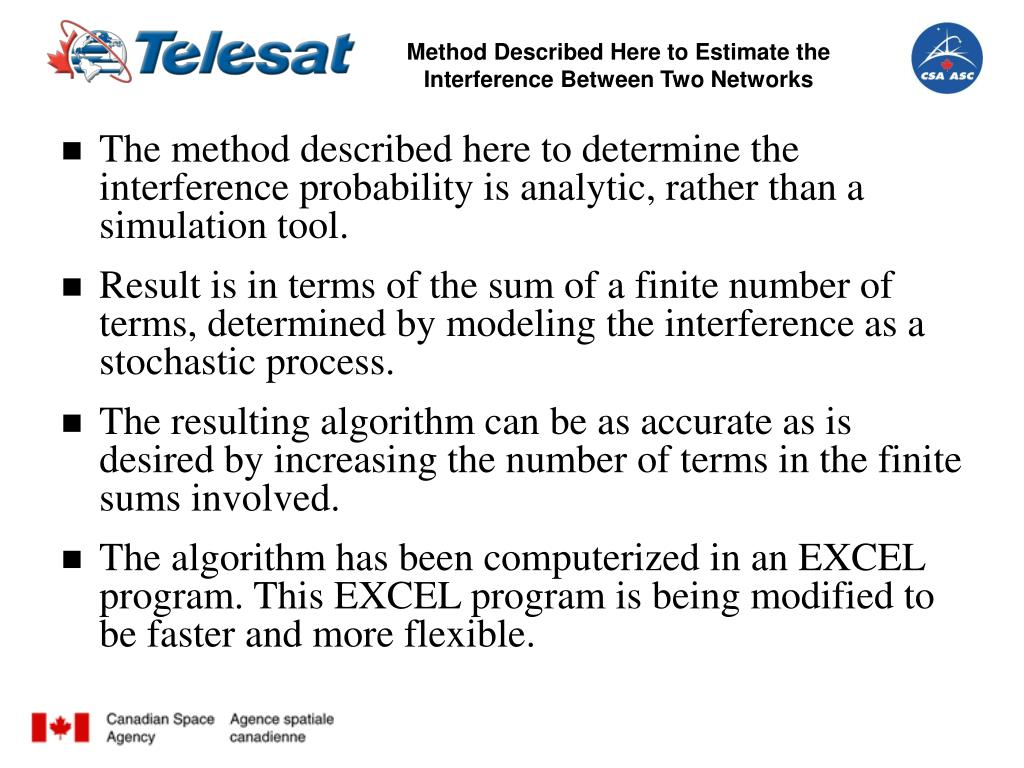 Method Described Here to Estimate the Interference Between Two Networks