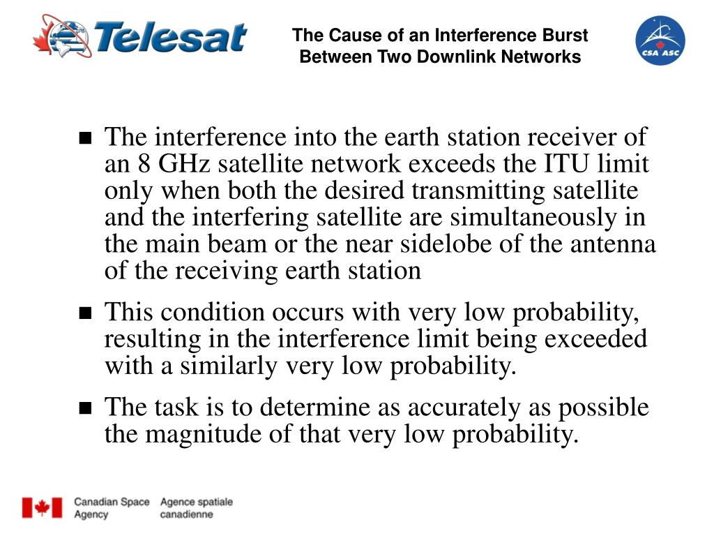The Cause of an Interference Burst