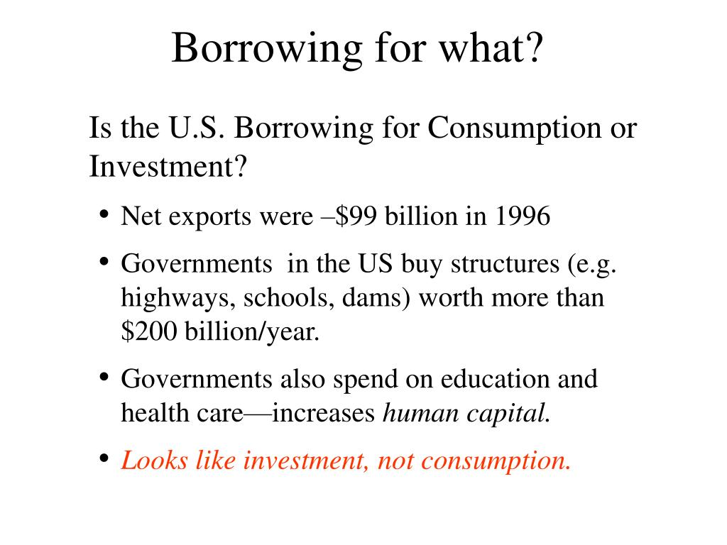 Borrowing for what?