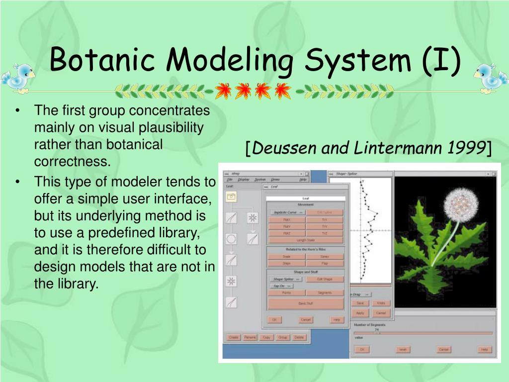 Botanic Modeling System (I)
