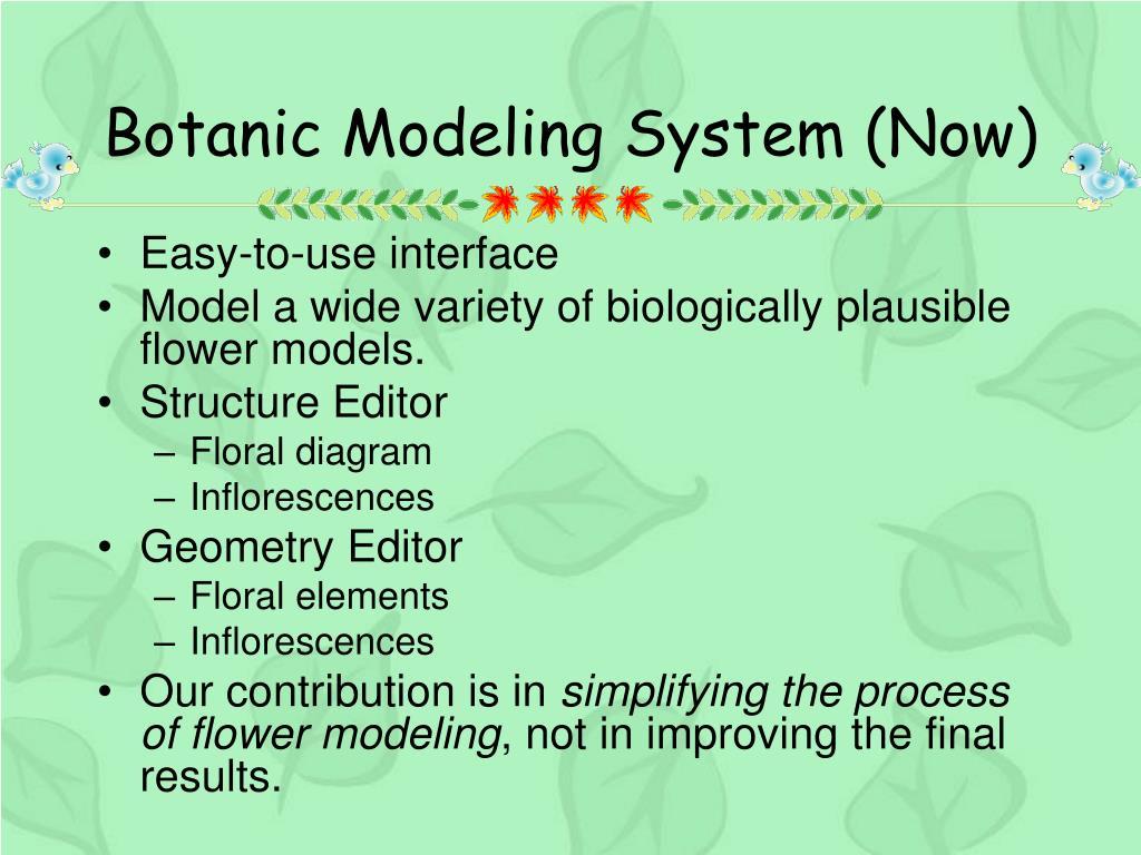 Botanic Modeling System (Now)