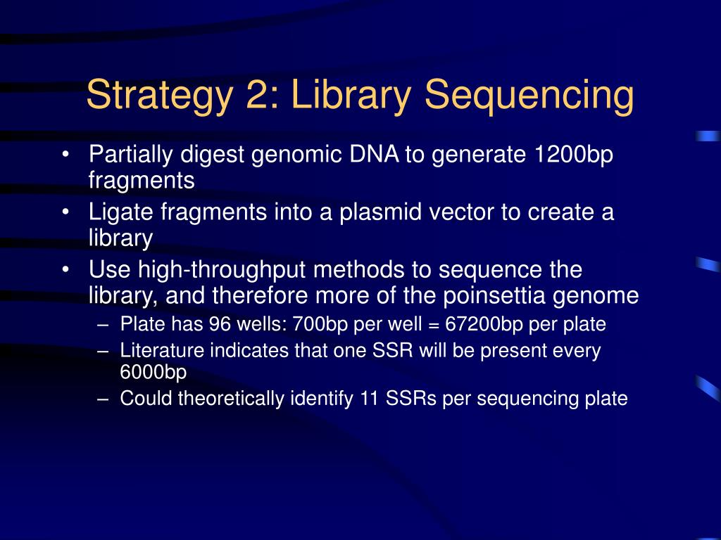 Strategy 2: Library Sequencing