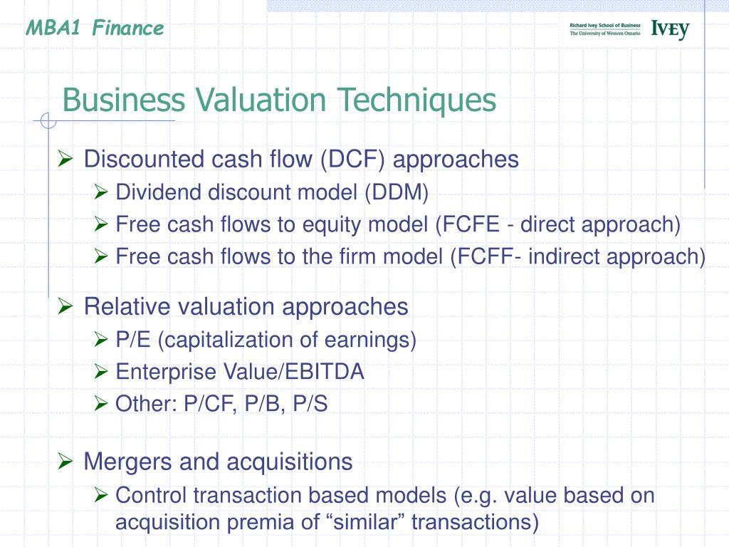 Business Valuation Techniques