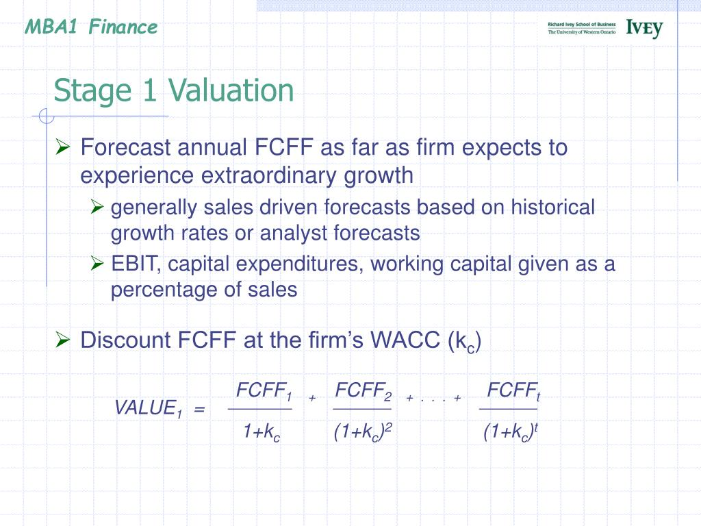 Stage 1 Valuation