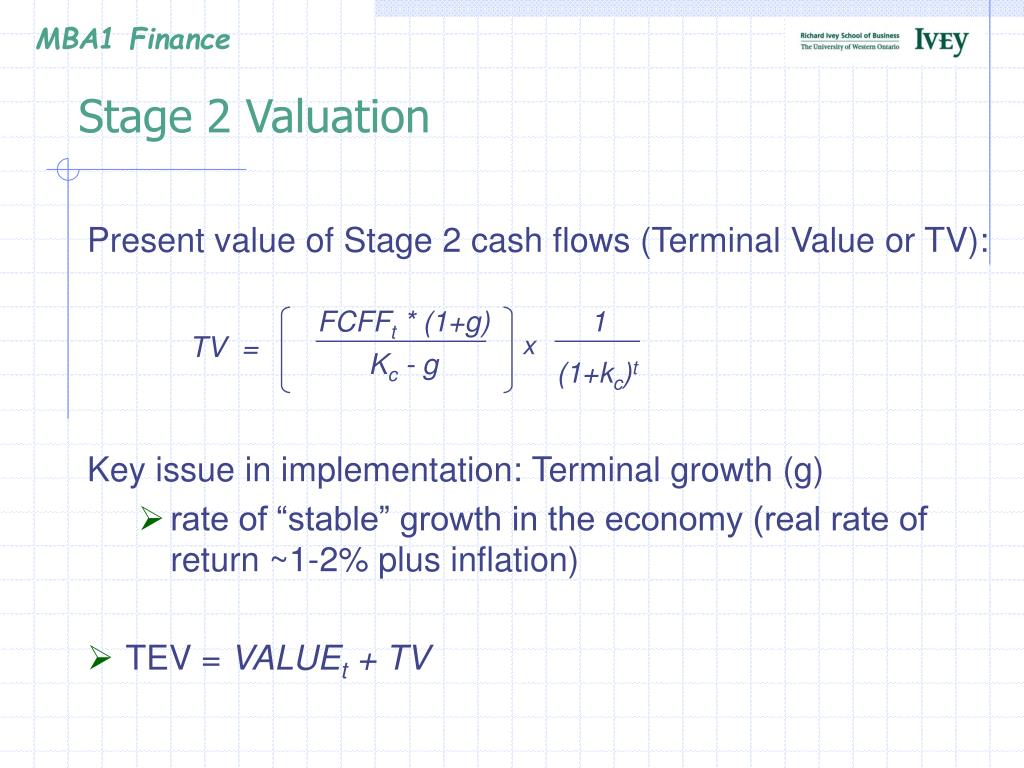 Stage 2 Valuation