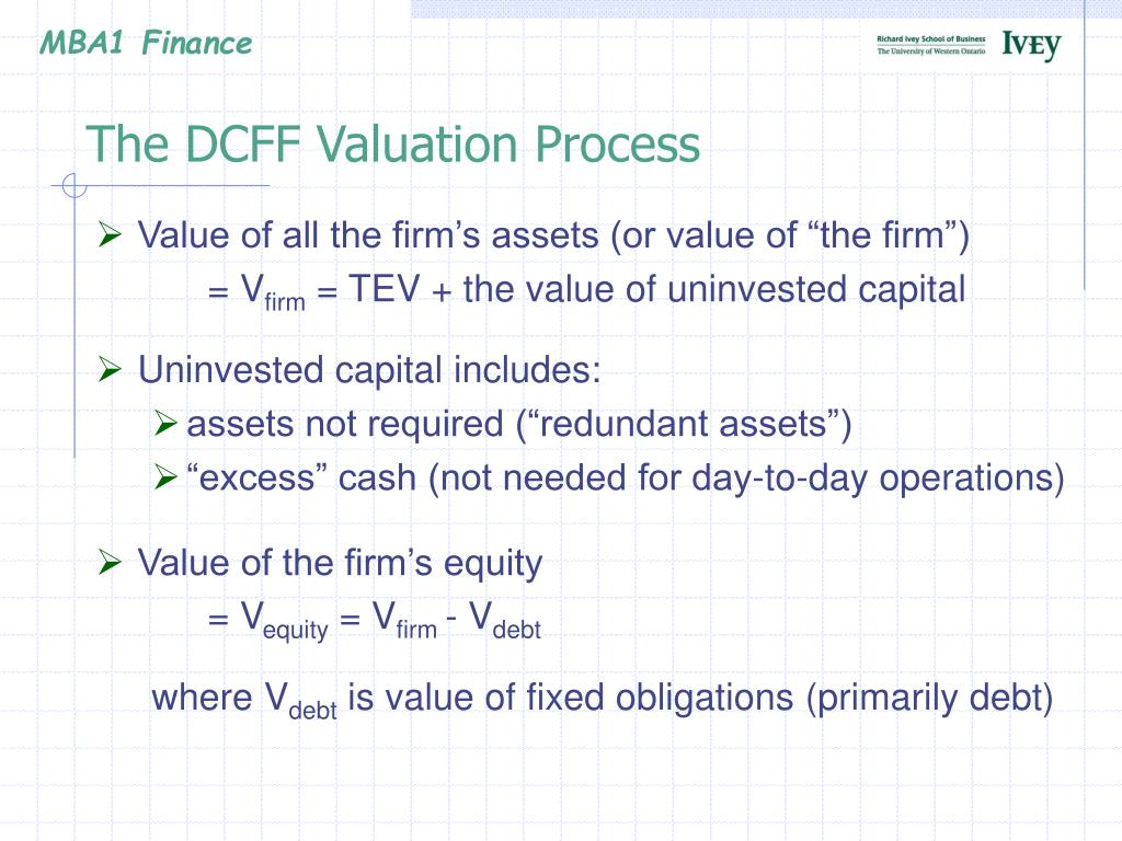 The DCFF Valuation Process