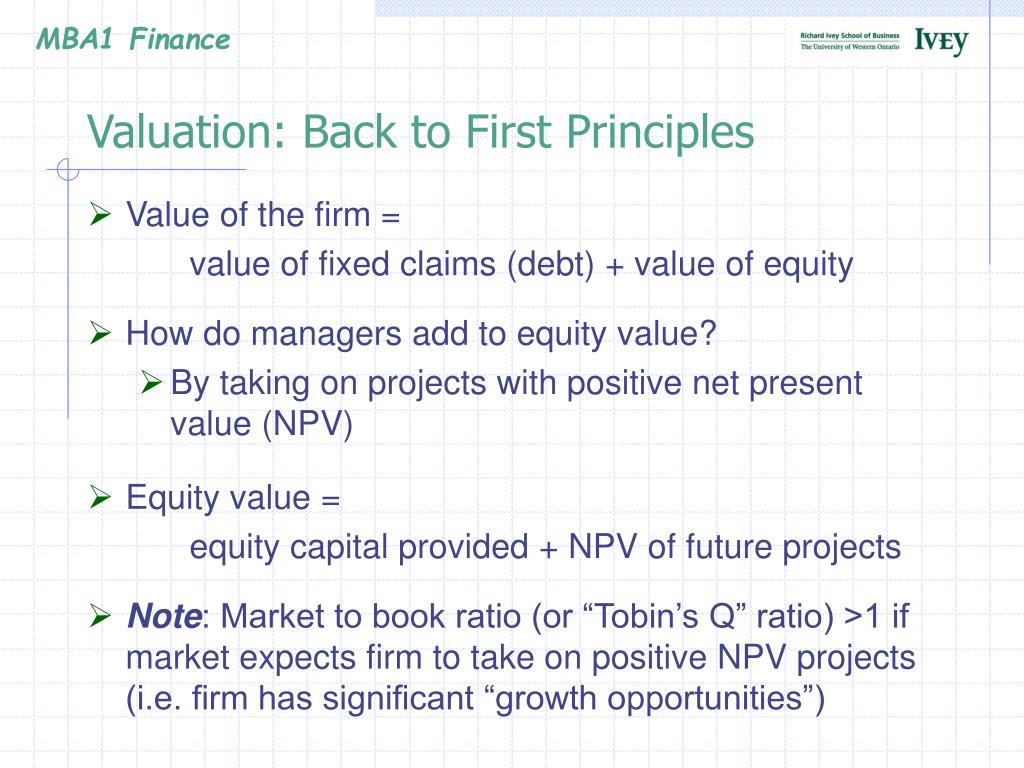 Valuation: Back to First Principles