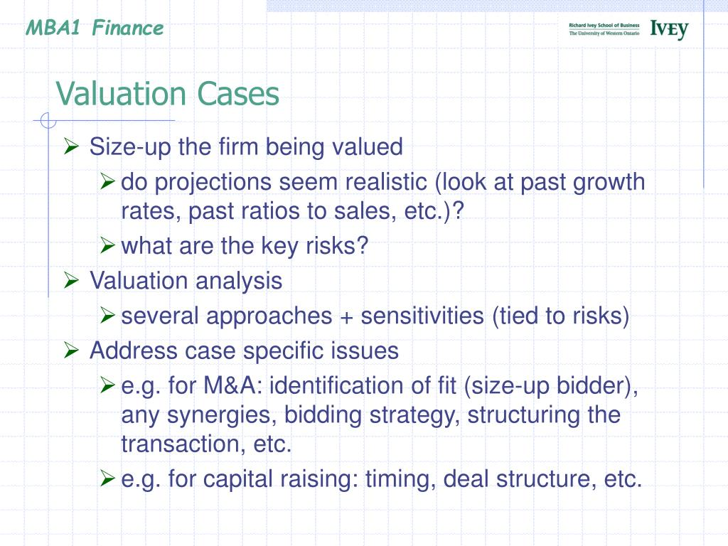 Valuation Cases