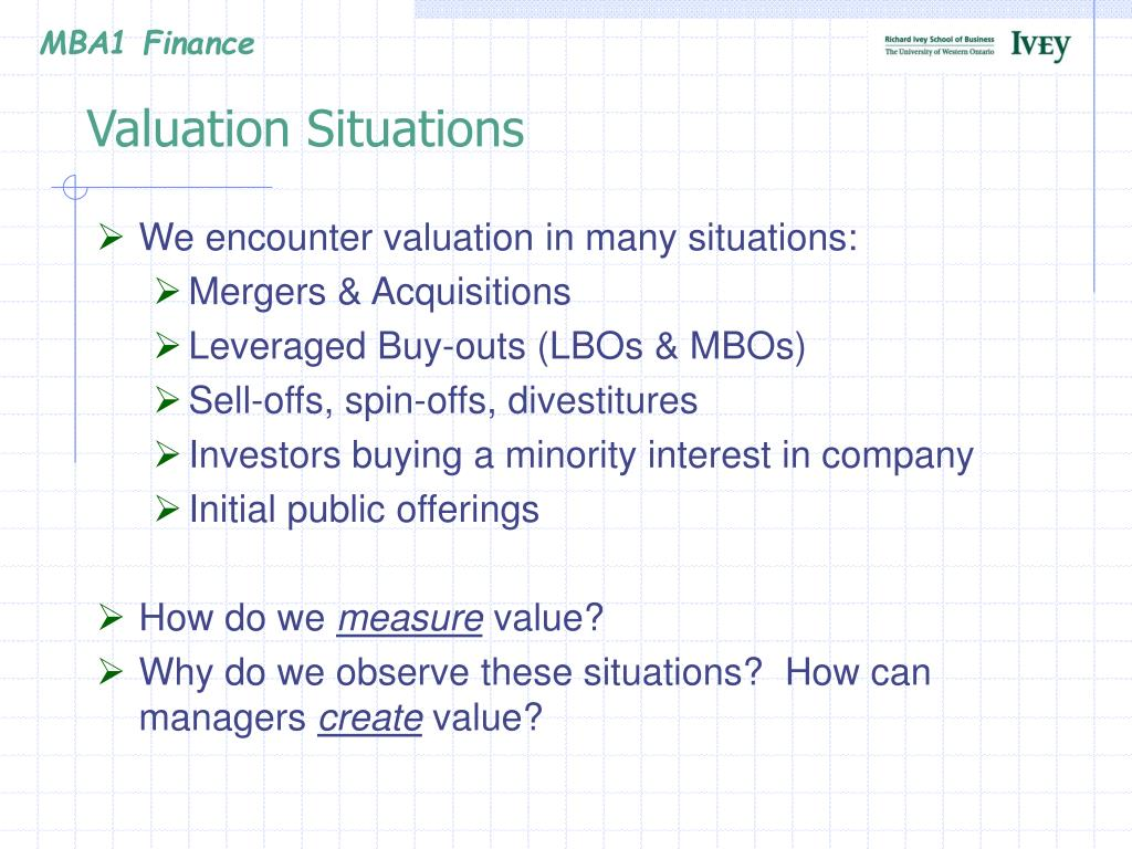 Valuation Situations