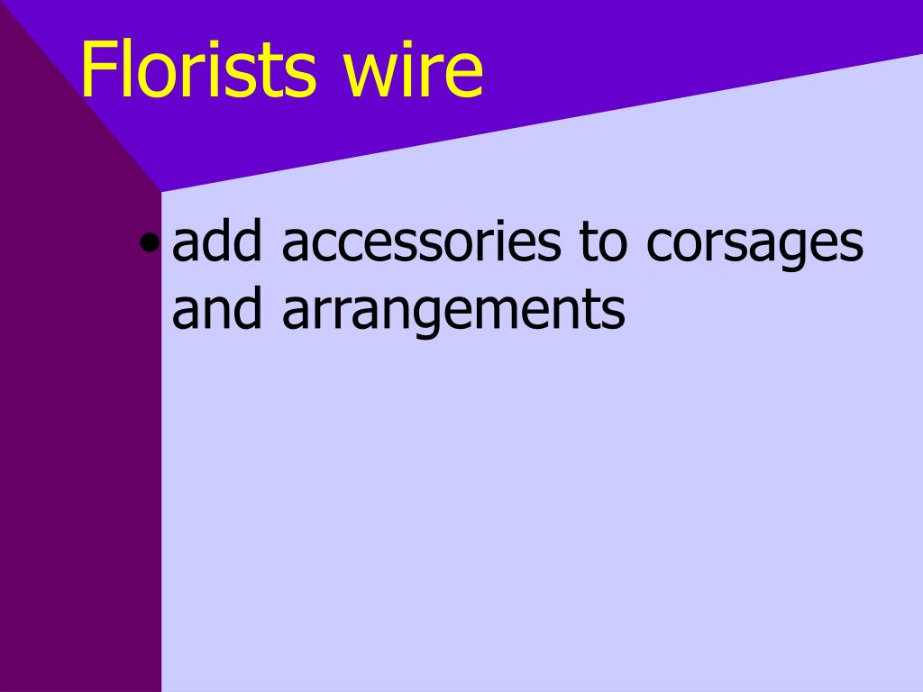 Florists wire