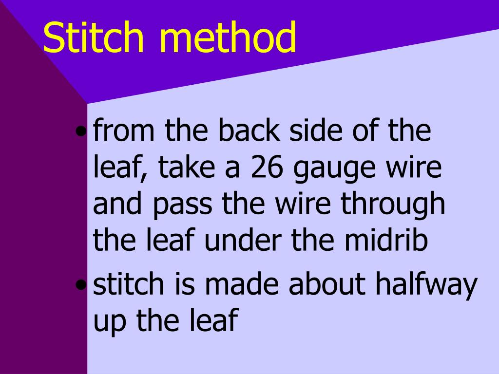 Stitch method
