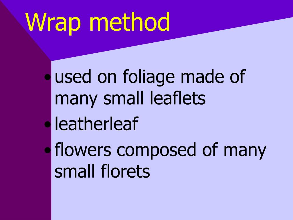 Wrap method