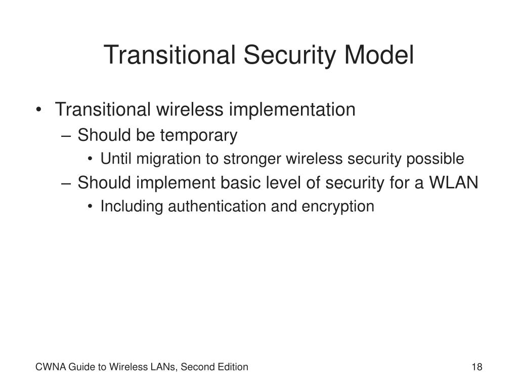 Transitional Security Model