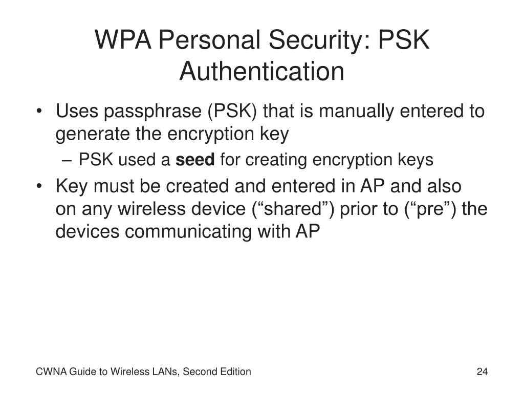 WPA Personal Security: PSK Authentication