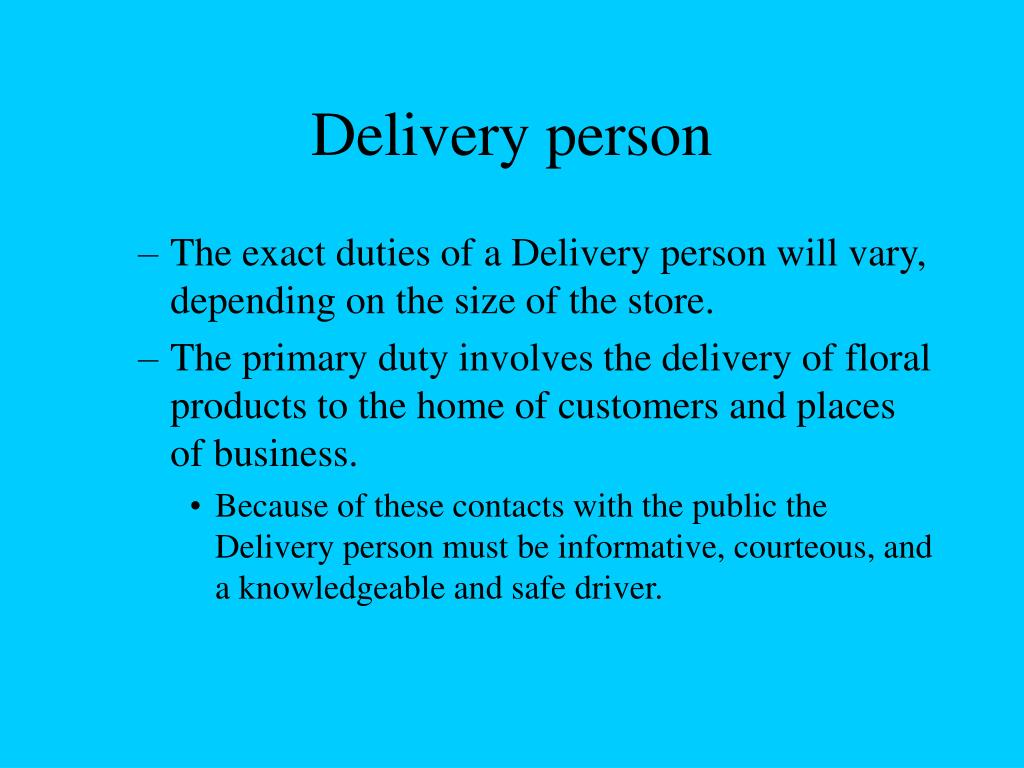 Delivery person