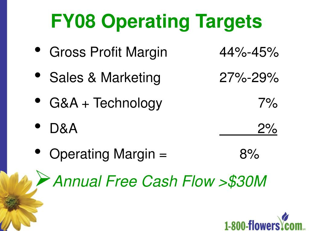 FY08 Operating Targets