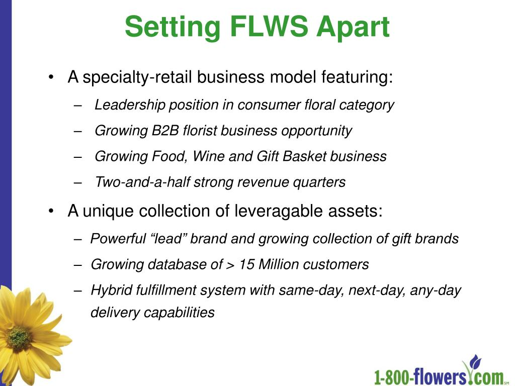 Setting FLWS Apart