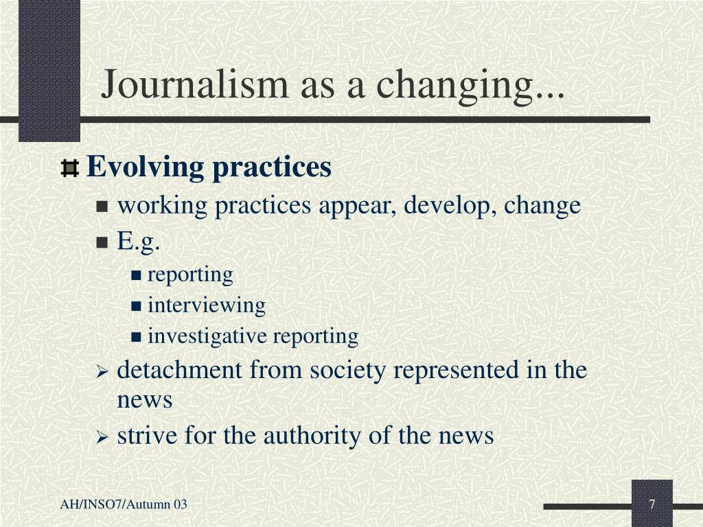 Journalism as a changing