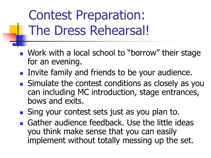 Contest Preparation: