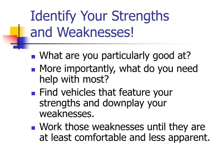 Identify Your Strengths