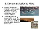 3 design a mission to mars