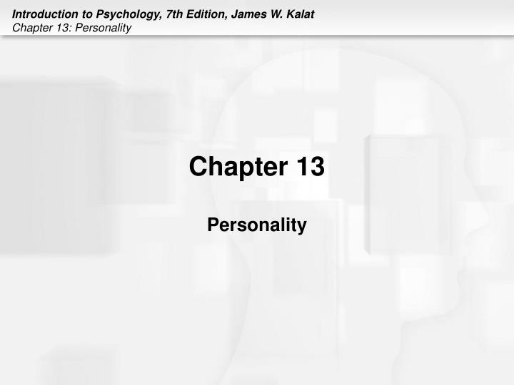 Chapter 13 personality