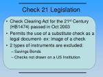check 21 legislation