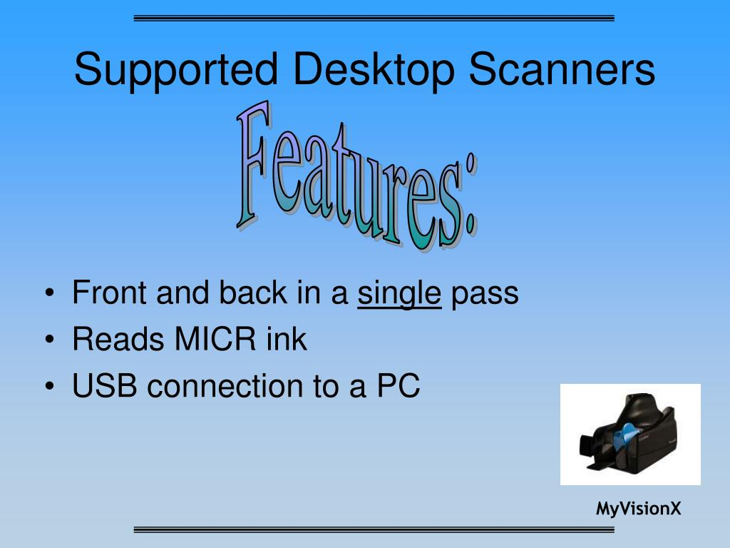 Supported Desktop Scanners