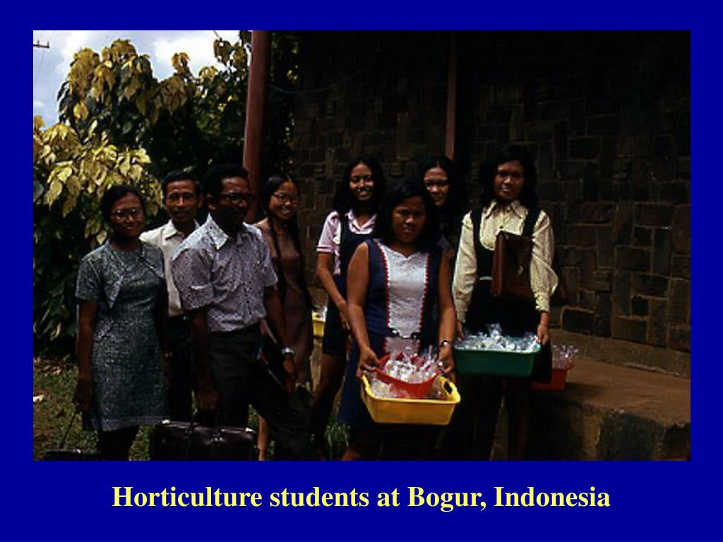 Horticulture students at Bogur, Indonesia