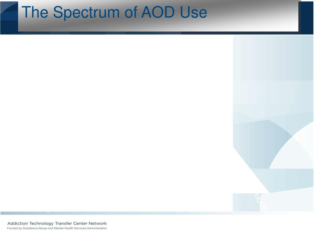 The Spectrum of AOD Use