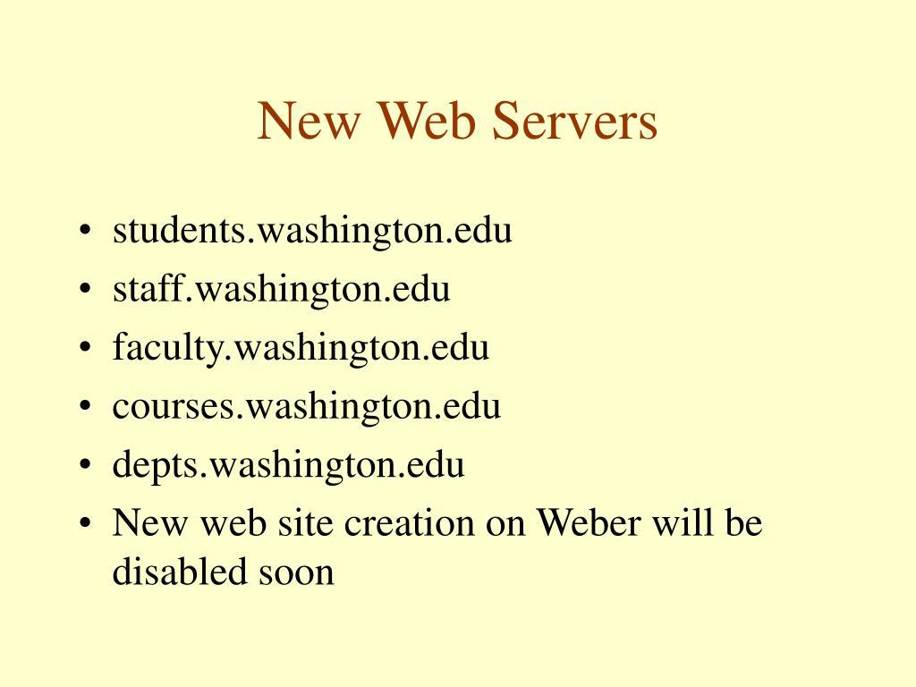 New Web Servers