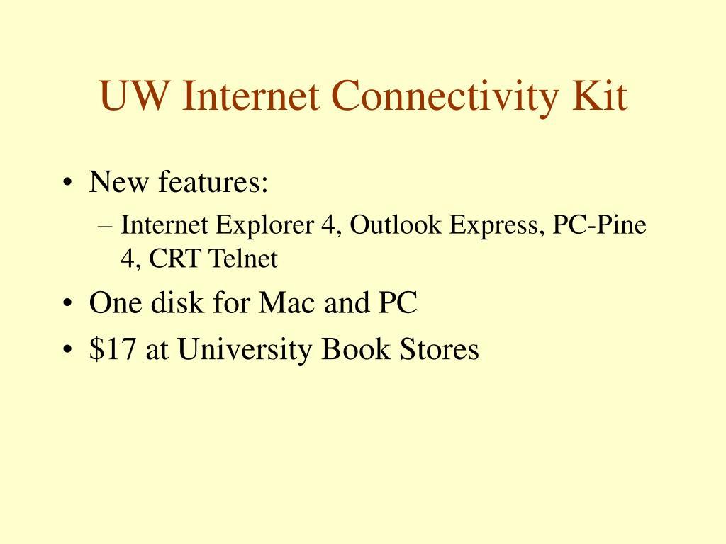 UW Internet Connectivity Kit