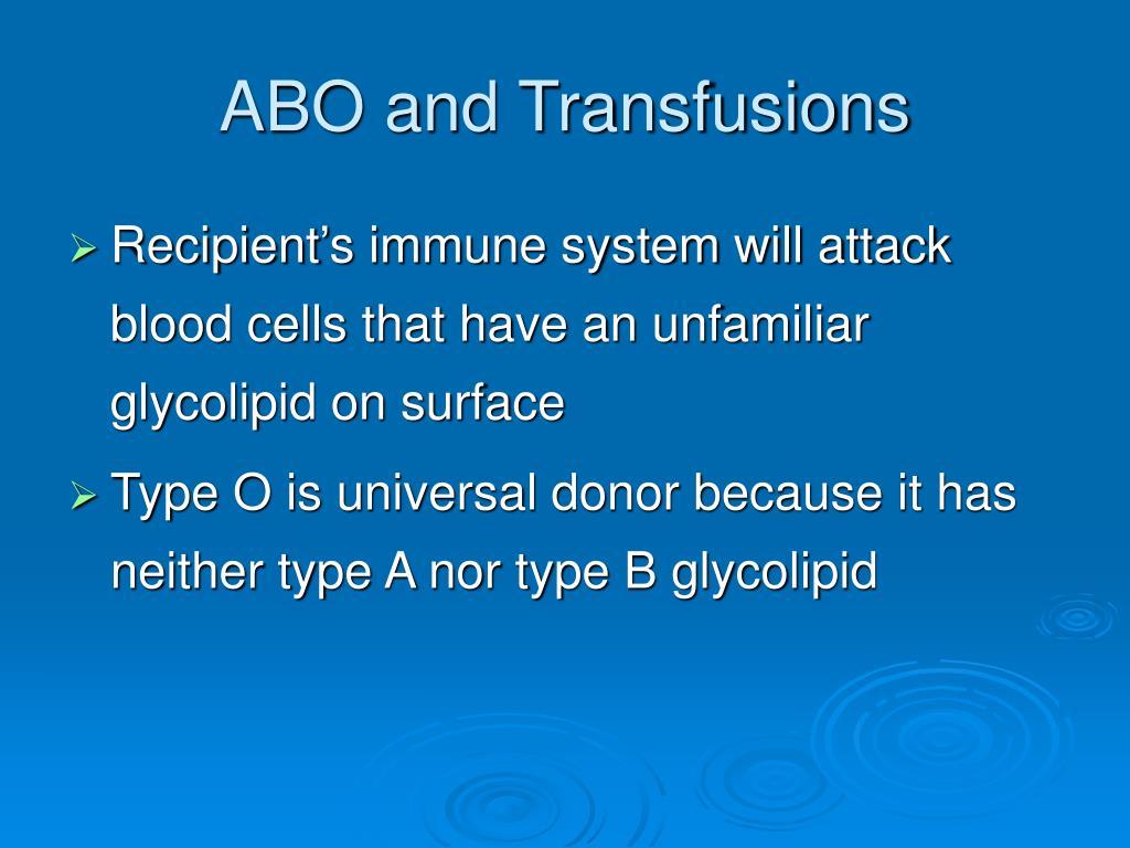 ABO and Transfusions