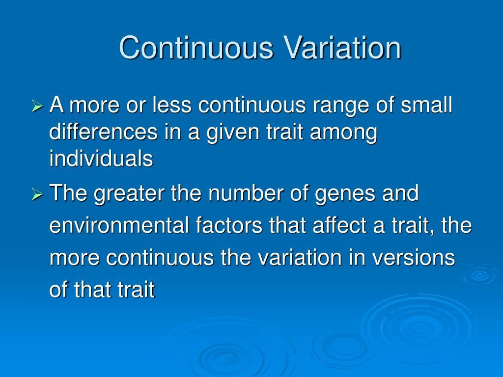 Continuous Variation