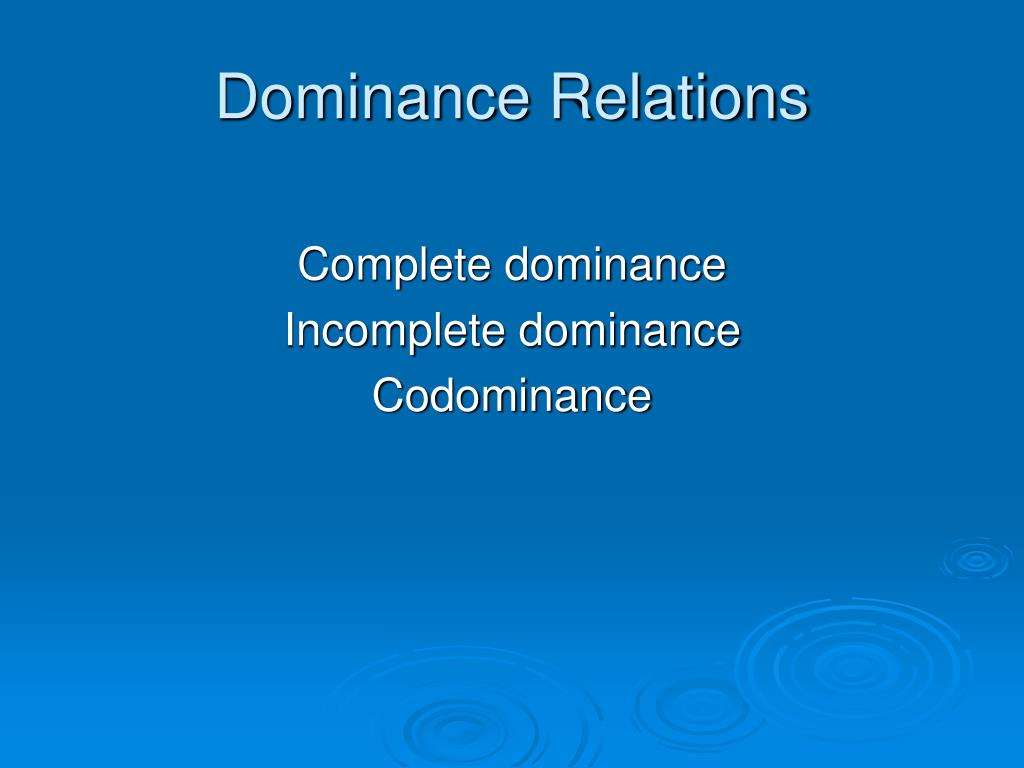 Dominance Relations