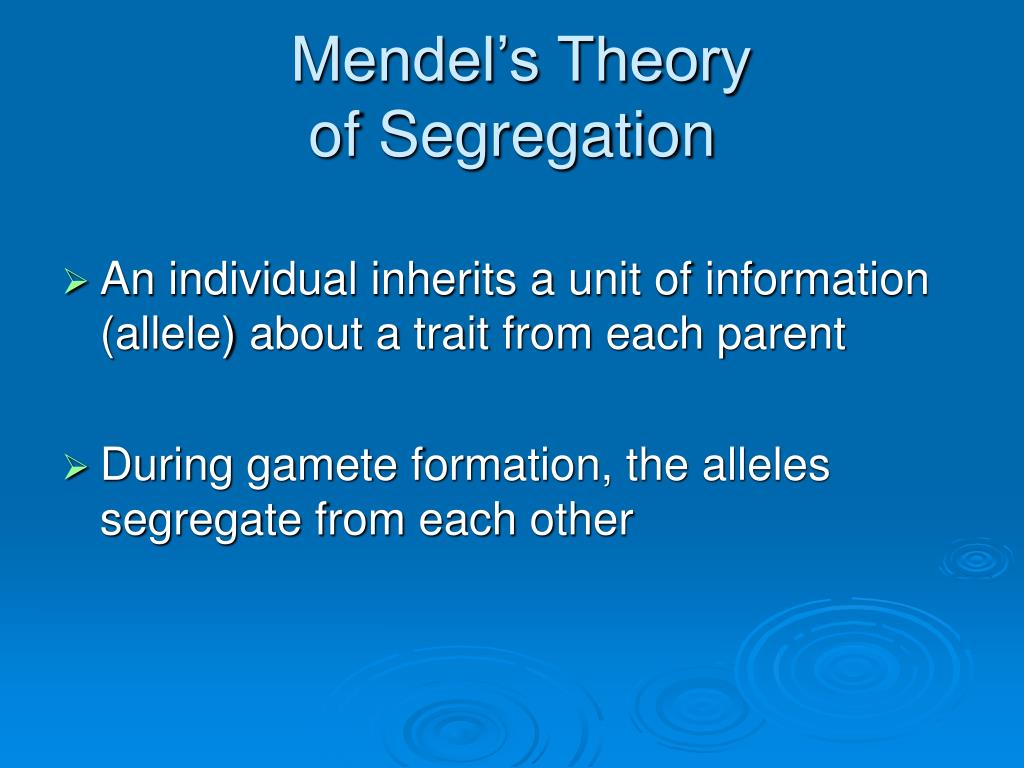 Mendel's Theory